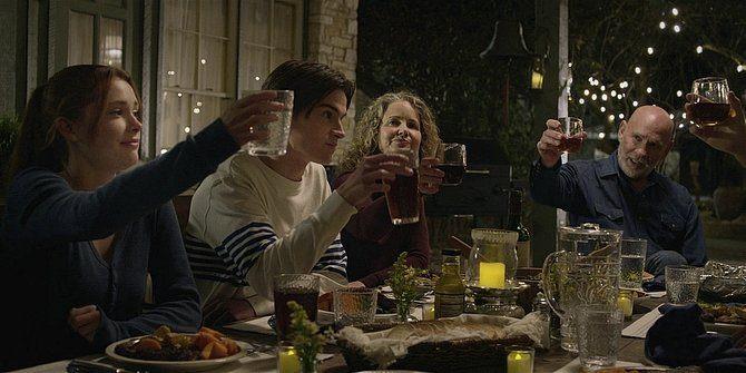 Walker Mitch Pileggi toasting Emily with family 109.