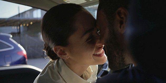 Walker Micki kissing Trey in car 1.11