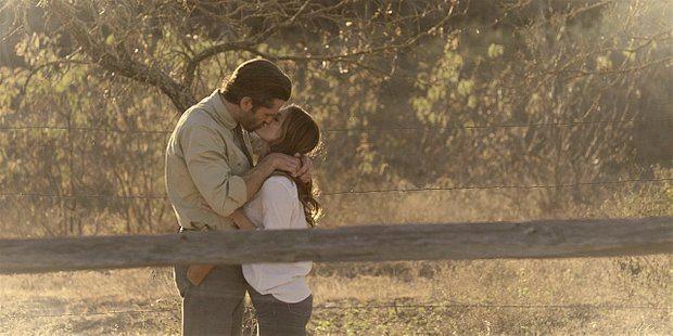 Walker Cordell remembers kissing dead wife Emily in field.