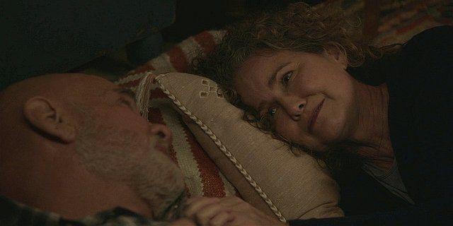 WAlker Abilene talking in bed with Bonham about cancer.