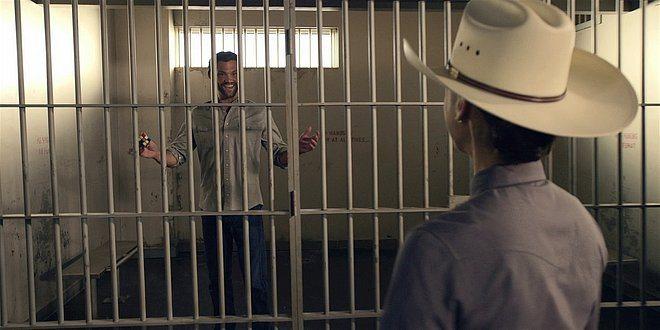 Walker Jared Padalecki flamboyant in jail with Micki.