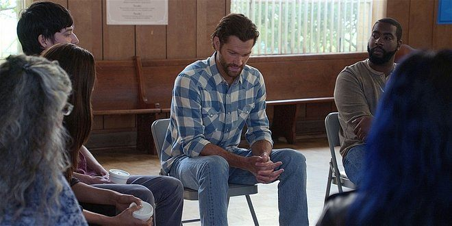 Walker Jared Padalecki in undercover therapy session with Micki.
