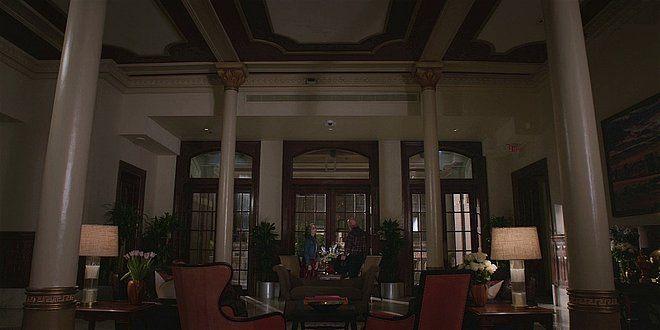 Walker Abeline and Bonham in hotel.