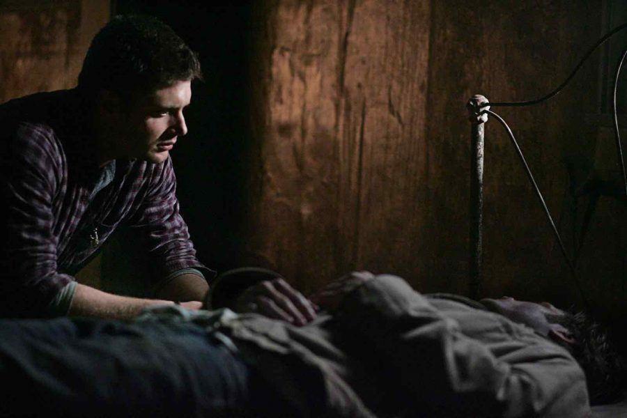 supernatural dean with a dying sam jensen ackles season 2 all hell breaks loose