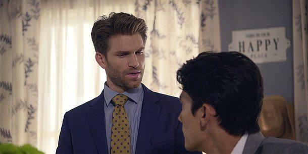 Walker gay Liam talking with gay Bret.
