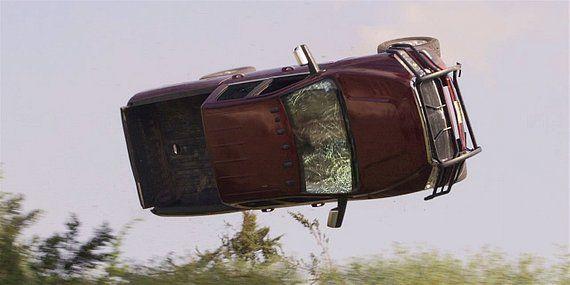 Walker truck flipping down a hill 1.17