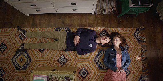 Walker Augie and Stella laying on floor talking about dead mother.