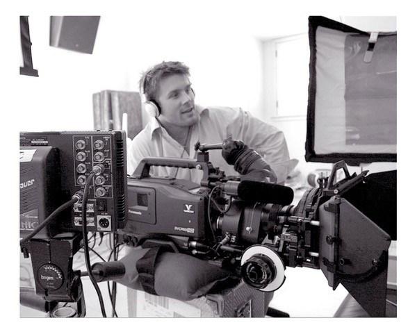 Rod Roddenberry behind camera directing star trek nation project
