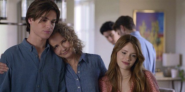 Walker Abilene hugging Augie and STella.
