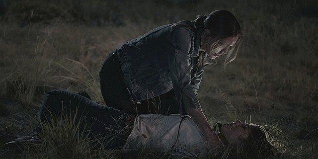 Walker Geri finds Emilys dead body outside in grass.