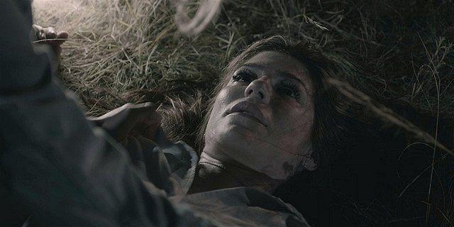 Walker Emily dead in hay stack.
