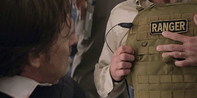 Walker Stan dying out with Cordell in bullet proof vest.