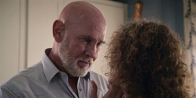 Walker Mitch Pileggi looking into Molly Hagans eyes for Season 1 finale.